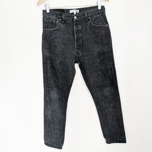 Re/Done Levi's Gray High-Rise Ankle Crop Jeans 27